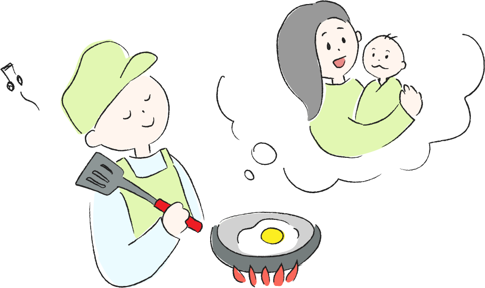 奥さんのつわり 栄養のあるごはんを作る