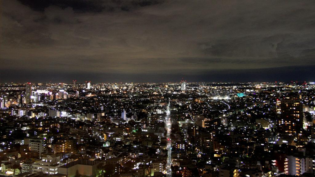 世田谷線散策_キャロットタワー夜景
