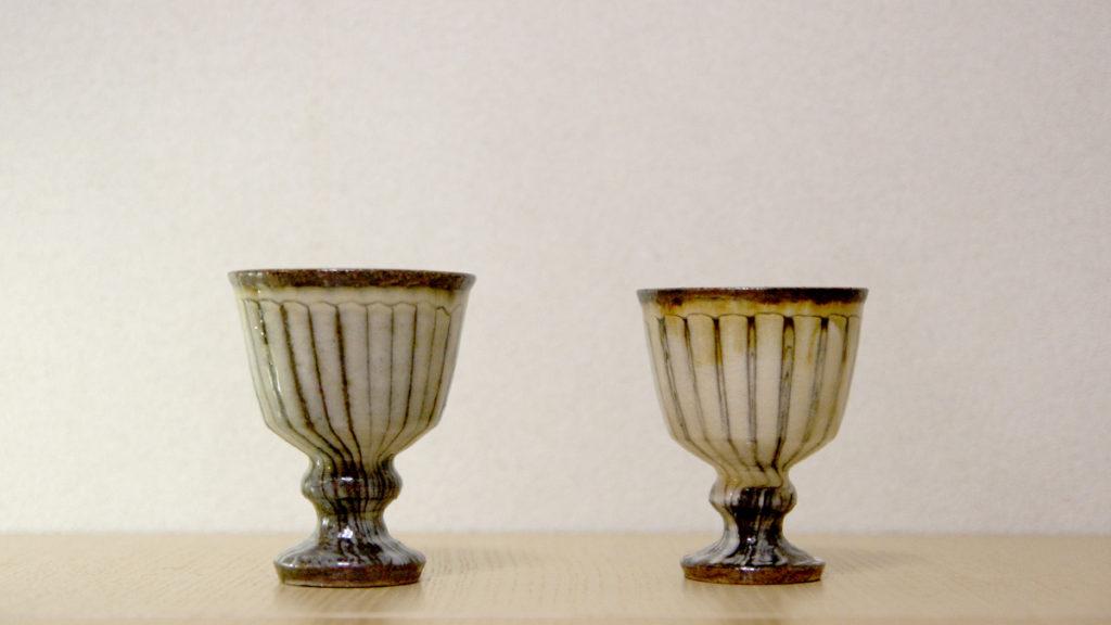 工芸喜頓(こうげいきいとん)足つきグラス