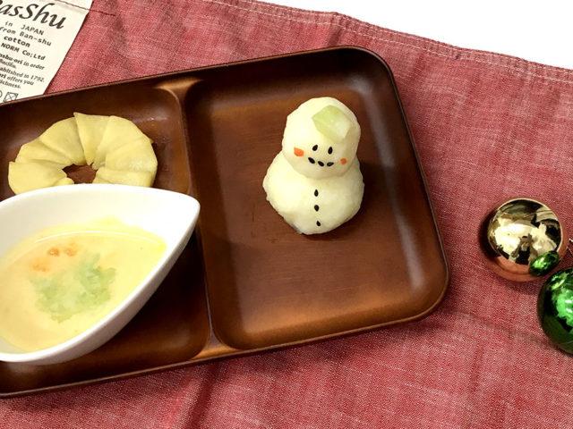 見た目もかわいく栄養たっぷり!クリスマスプレート【中期離乳食レシピ】
