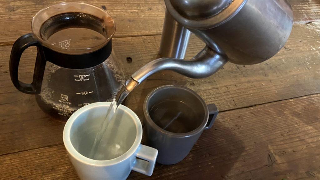 珈琲の淹れ方_マグカップを温める