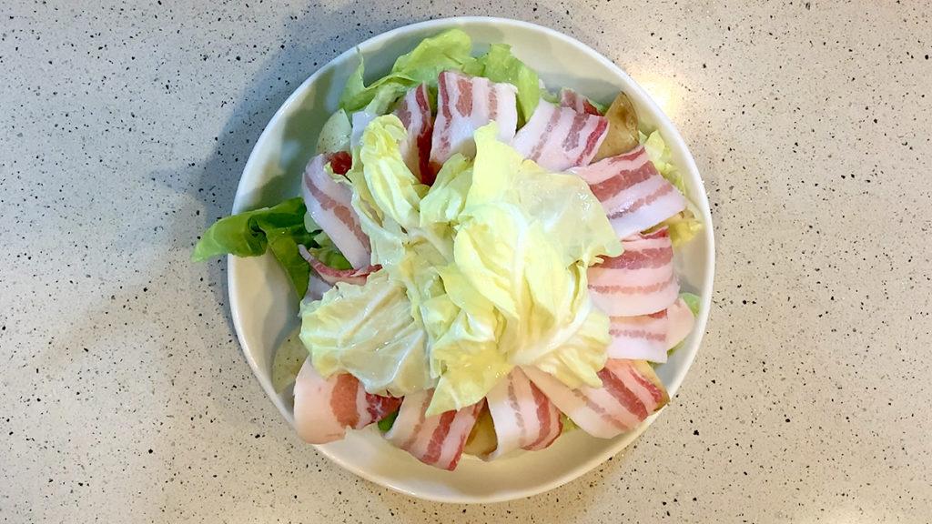春キャベツと豚肉の重ね蒸し11