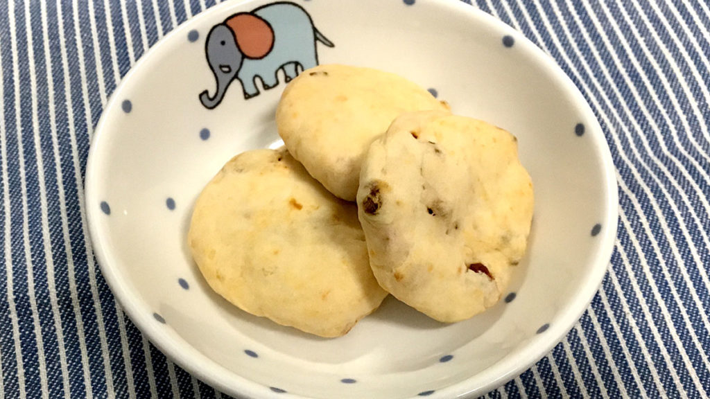 中期離乳食レシピ_トマトクッキー
