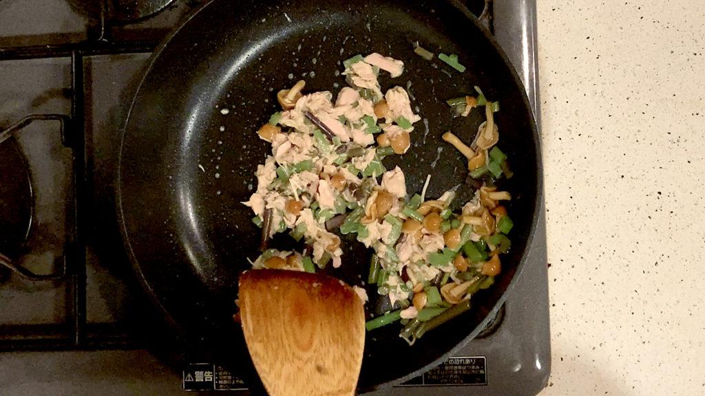 山菜とツナの混ぜご飯4
