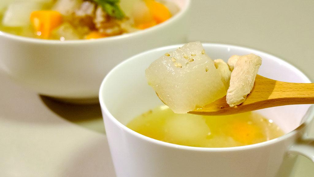 冬瓜と鶏むね肉のスープ完成2